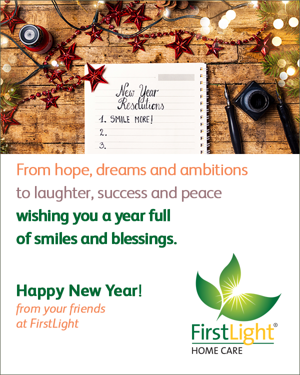 FirstLight Home Care - Wishing You a New Year Full of Blessings