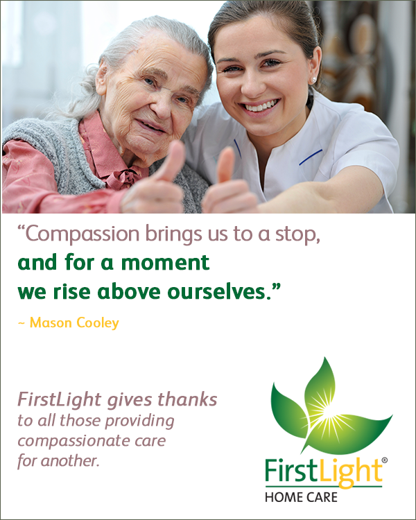 FirstLight Home Care - Giving Thanks to the Family Caregiver