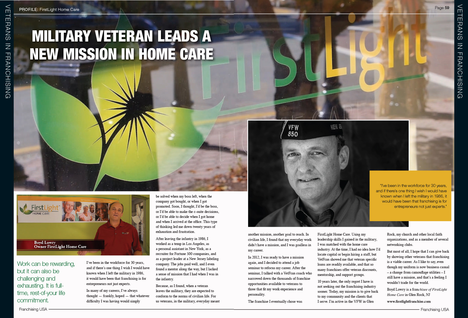 FirstLight Home Care - Military Veteran Leads A New Mission in Home Care