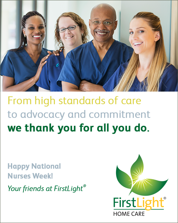 FirstLight Home Care - 5 Reasons to Thank a Nurse. National Nurses Week is May 6-12.