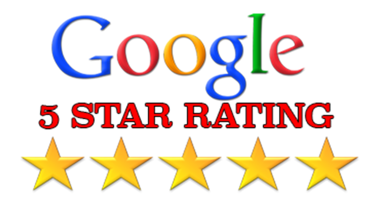 We are proud of our 5-star rating on Google!