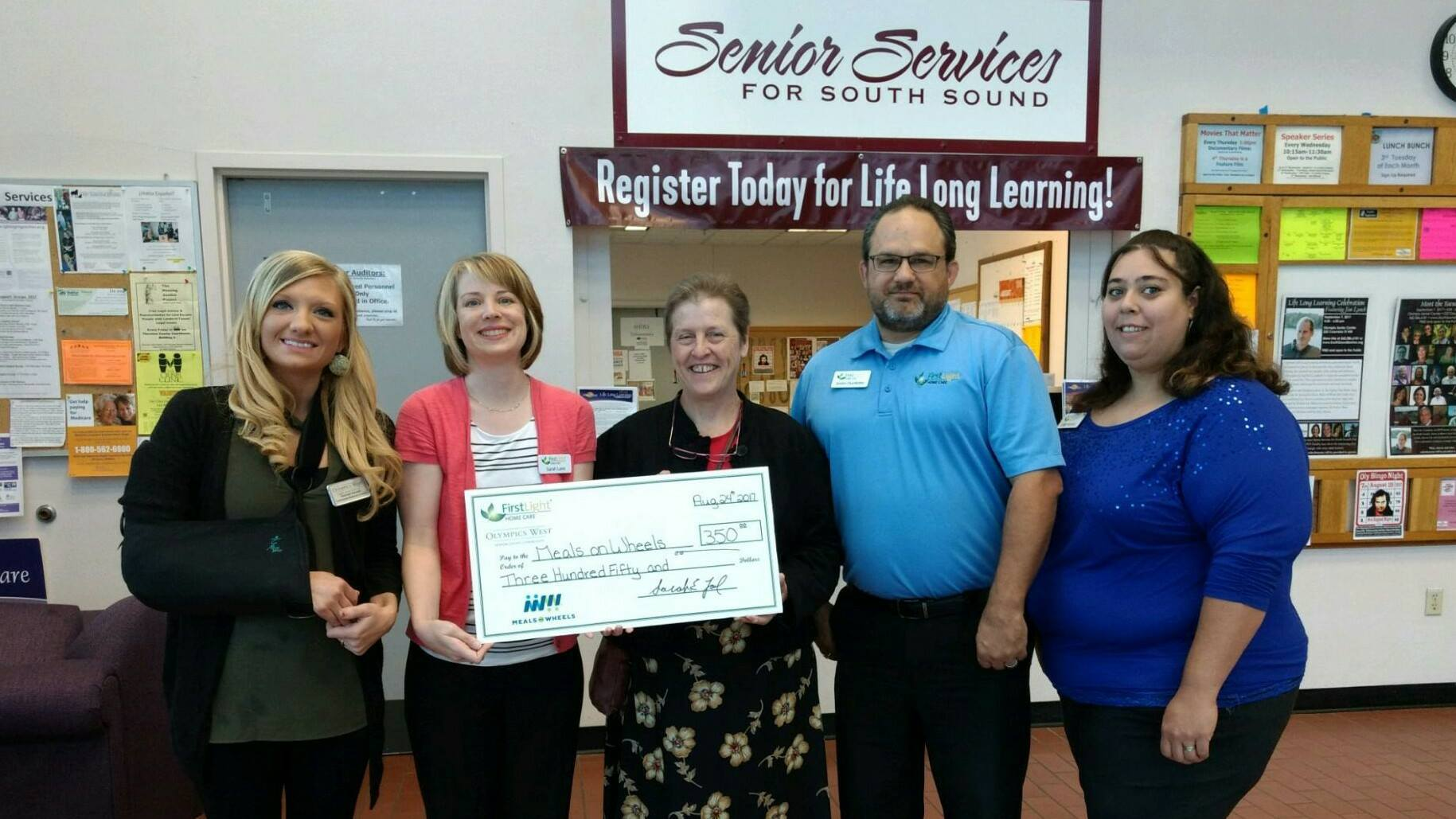 Olympia Home Care Donates To Meals On Wheels