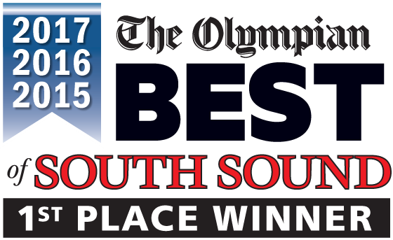 Best of South Sound 1st Place Winner 2017, 2016 and 2015.