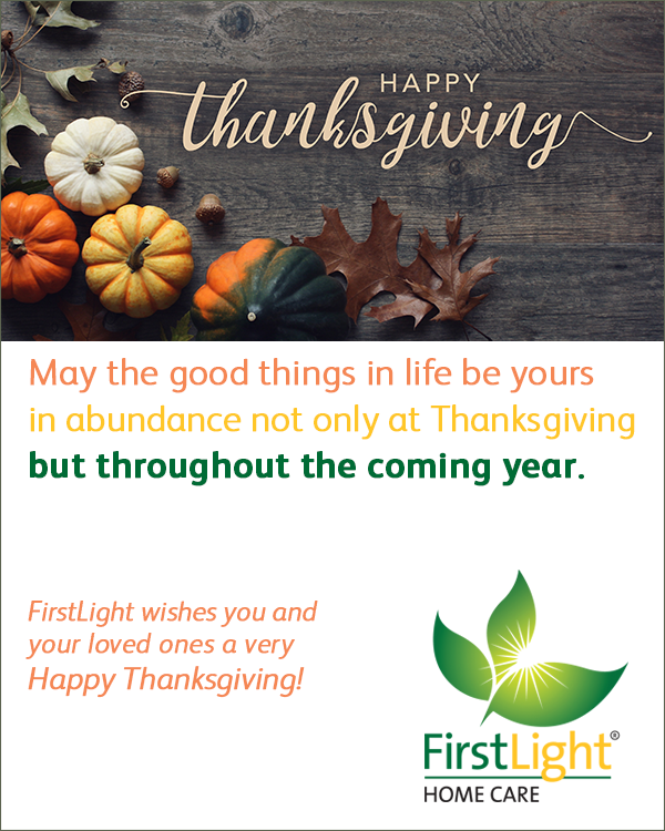 FirstLight Home Care - Happy Thanksgiving!
