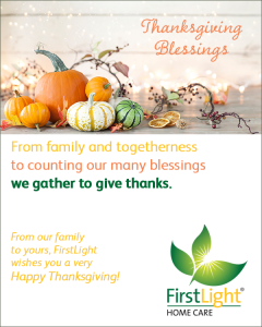 Thanksgiving message from FirstLight Home Care